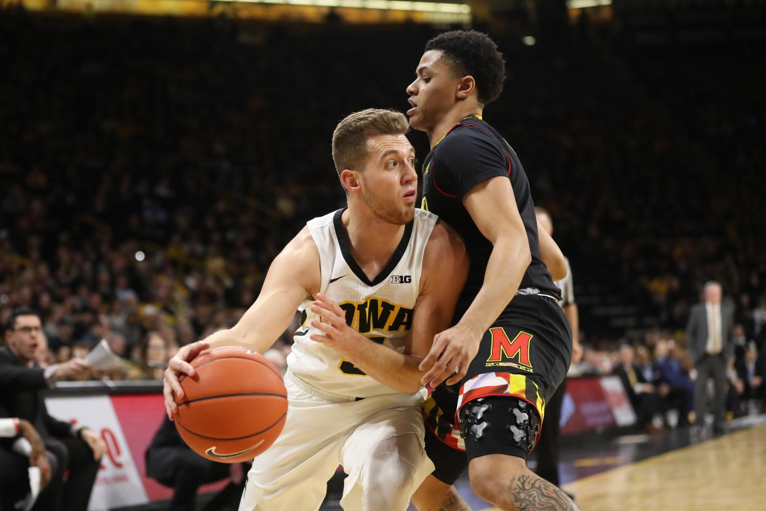 No. 24 Maryland tops No. 21 Iowa in final seconds