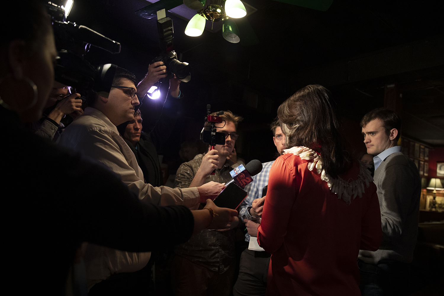 U.S.+Rep.+Tulsi+Gabbard%2C+D-Hawaii%2C+speaks+with+the+media+during+an+event+at+the+The+Mill+on+Thursday%2C+February+21%2C+2019.+Rep.+Gabbard+visited+Iowa+City+on+Thursday+after+having+cancelled+stops+in+the+area+last+week+due+to+inclement+weather.
