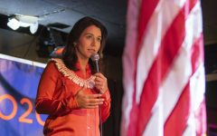 U.S. Rep. Tulsi Gabbard, D-Hawaii, speaks during an event at the The Mill on Thursday, February 21, 2019. Rep. Gabbard visited Iowa City on Thursday after having cancelled stops in the area last week due to inclement weather.