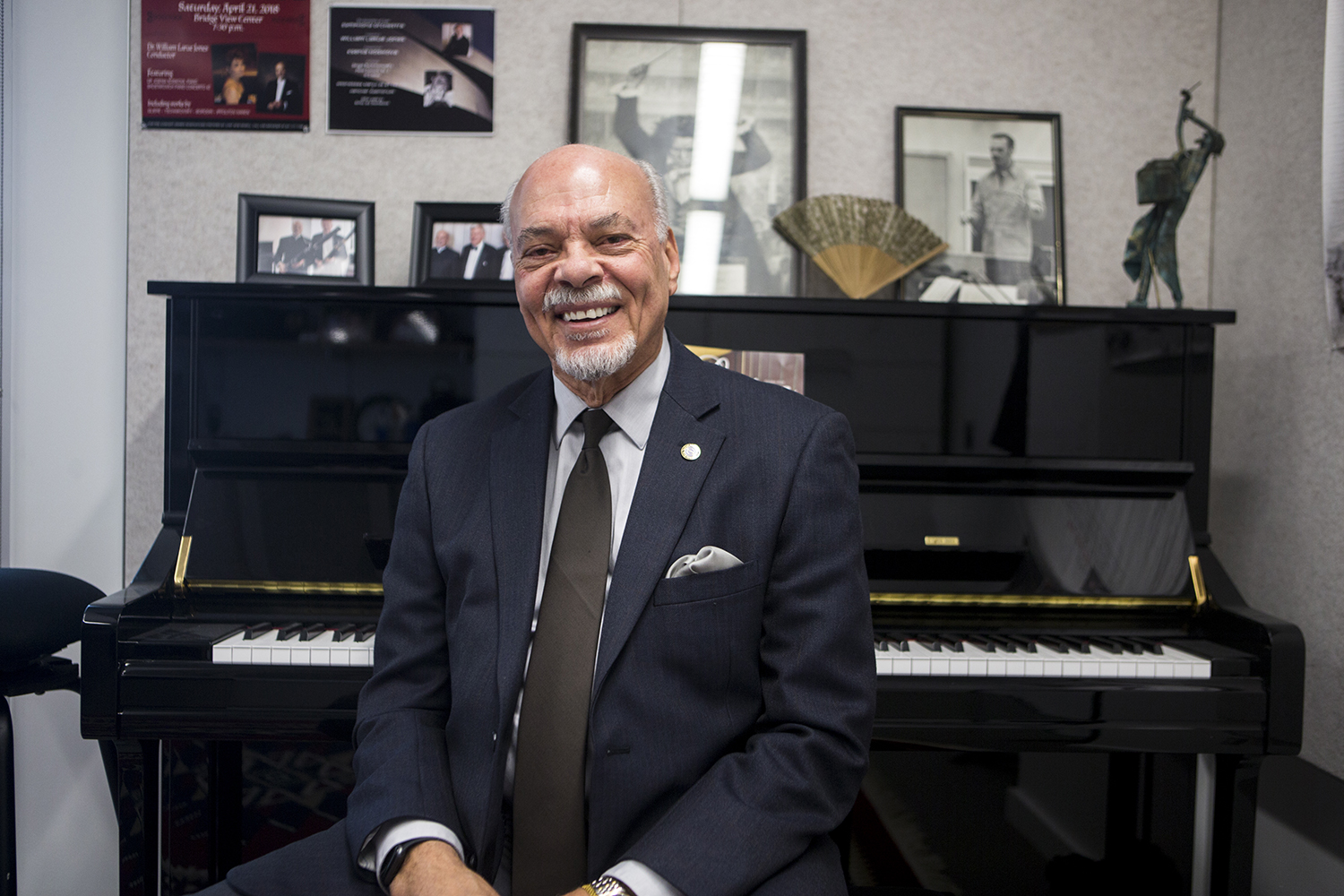 UI orchestra director, Dr. William LaRue Jones, poses for a portrait in his office at Voxman Music Building in Iowa City on Tuesday, February 5, 2019. Dr. Jones is retiring after teaching at the University for over two decades.
