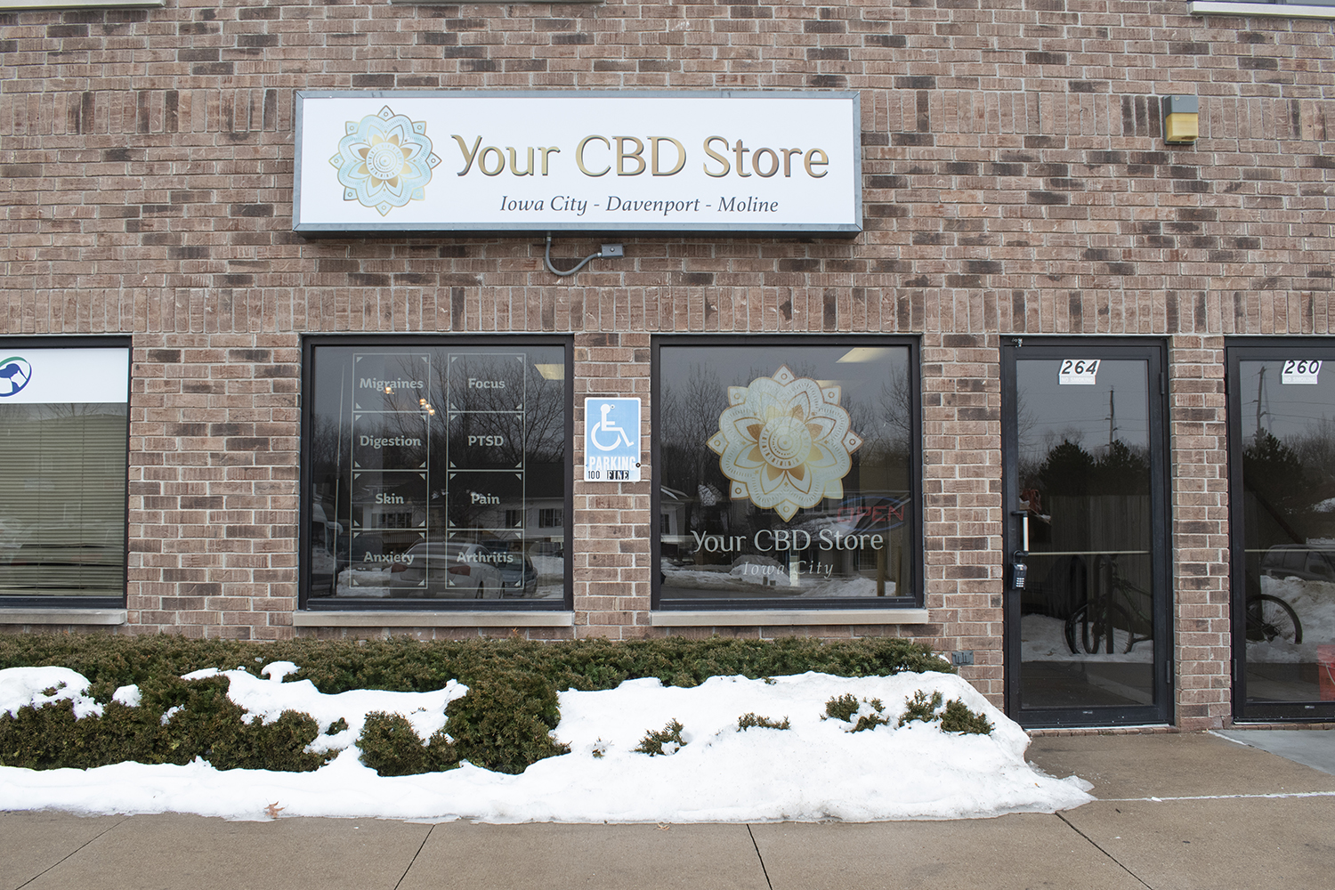 Your CBD Store is seen on Saturday, February 3, 2018. A nationwide company, the Iowa City location opened its doors last month.