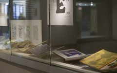 Selected pieces on display as part of the Ganary Books exhibition at the University of Iowa Main Library on Feb. 6.