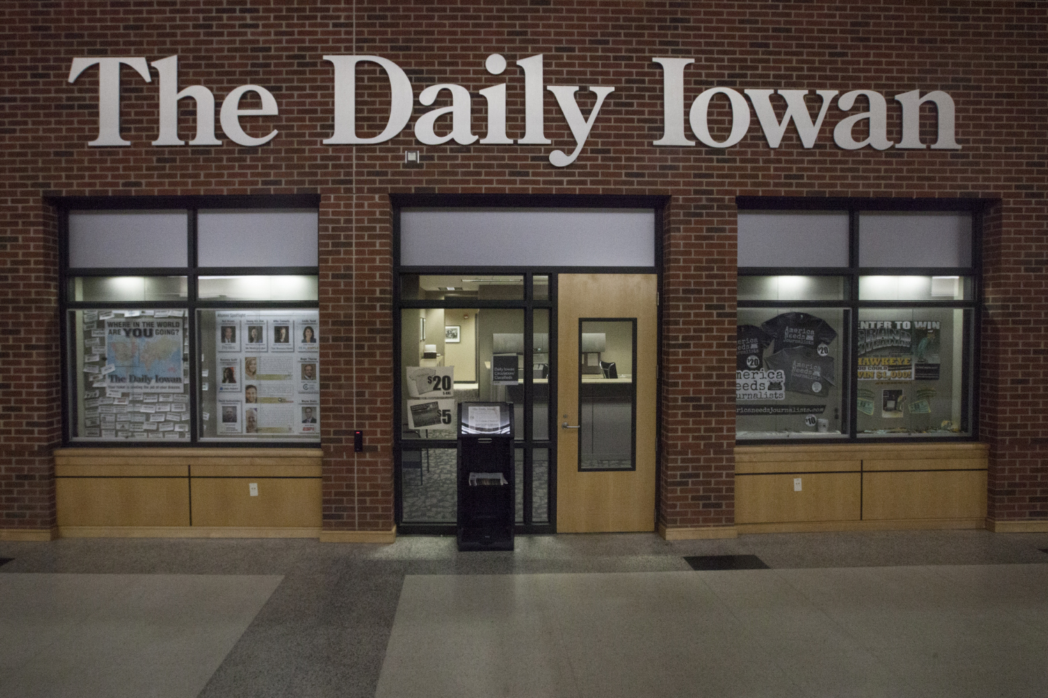 The Daily Iowan is seen on February 26, 2019