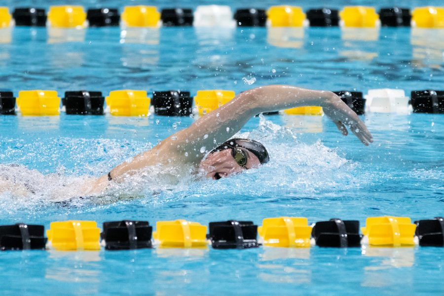 Iowa+swimmer+Allyssa+Fluit+swims+the+200+freestyle+during+a+swim+meet+against+the+University+of+Northern+Iowa+and+Western+Illinois+University+on+Friday%2C+Feb.+1%2C+2019.+