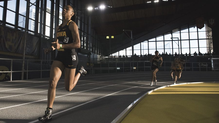 Iowa%27s+Briana+Guillory+participates+in+the+Women%27s+600m+Run+during+the+annual+Black+and+Gold+Intrasquad+Meet+at+the+UI+Recreation+Building+on+Saturday%2C+Dec.+9%2C+2017.+Guillory+finished+first+with+a+time+of+1%3A30%3A01.+The+Hawkeyes+will+host+the+next+meet+on+January+13.+