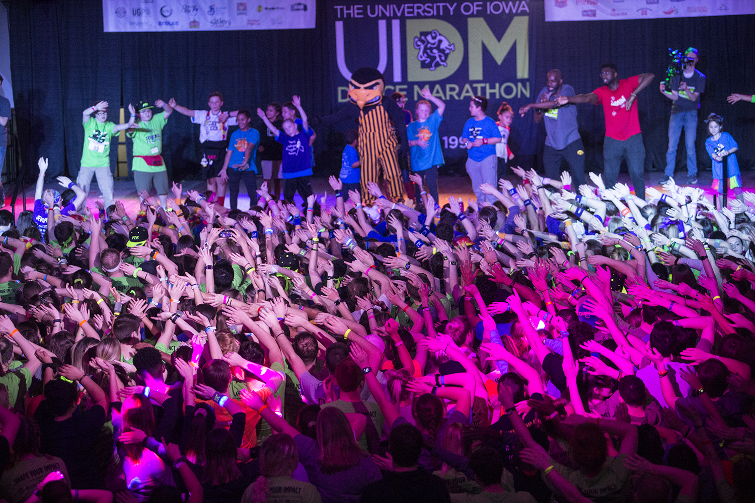 Participants dance during Dance Marathon 25 at the Iowa Memorial Union on Saturday February 2, 2019