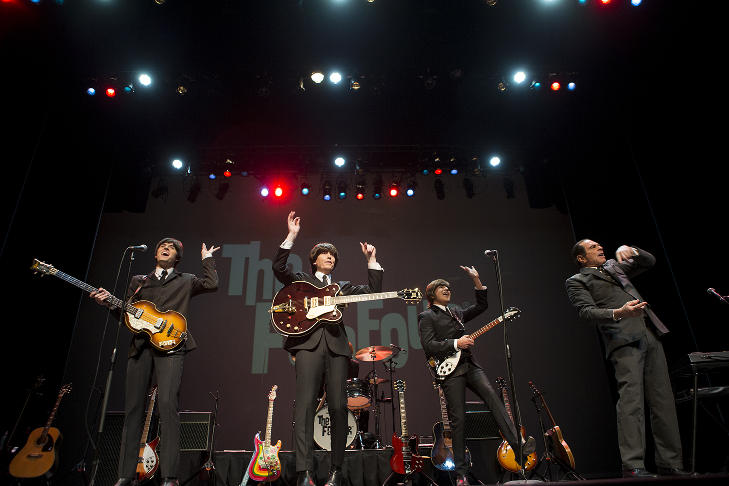 The Fab Four opens at the Englert Theatre in Iowa City on Wednesday, February 13, 2019. The group is a Beatles Tribute band that has been booking gigs around the world for over 20 years.