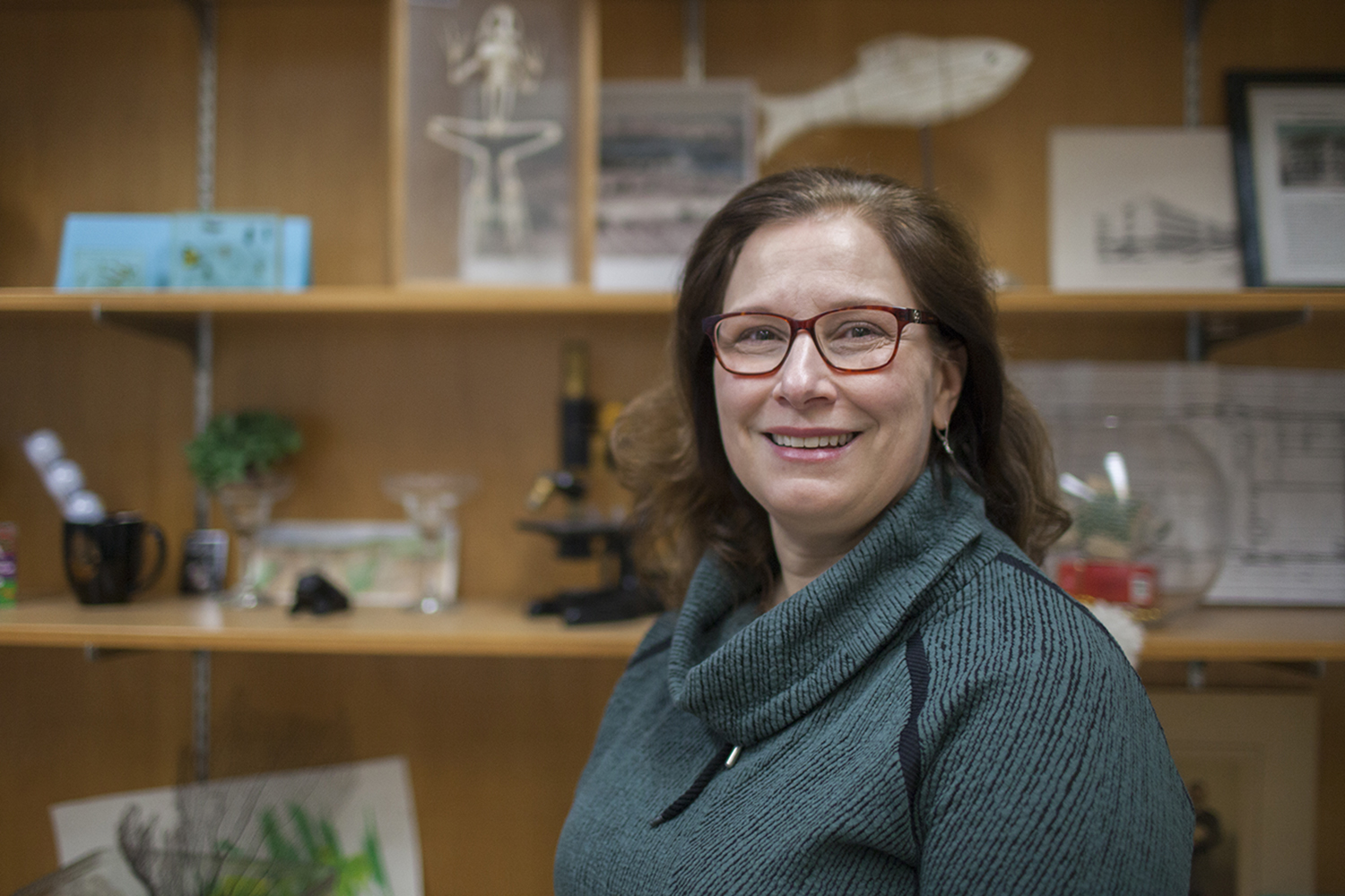 Chair of the University of Iowa Department of Biology, Diane C. Slusarski poses for a portrait on Monday, February 11th, 2018.