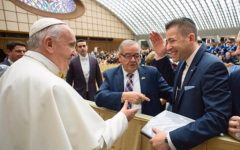 UI graduate honored by Pope Francis