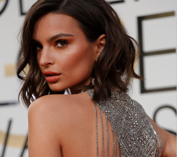 Emily Ratajkowski arrives at the 74th Annual Golden Globe Awards show at the Beverly Hilton Hotel in Beverly Hills, Calif., on Sunday, Jan. 8, 2017. (Jay L. Clendenin/Los Angeles Times/TNS)