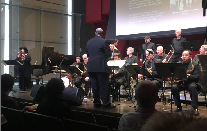 Haase Findlay and the Turner Center Jazz Orchestra perform at Damani Phillips' program Jazz in the Fight for Civil Rights on Saturday, Feb. 9.