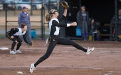 University of Iowa softball player Allison Doocy winds up to pitch during a game against Western Illinois University on Tuesday, Apr. 17, 2018. The Fighting Leathernecks defeated the Hawkeyes 2-1.