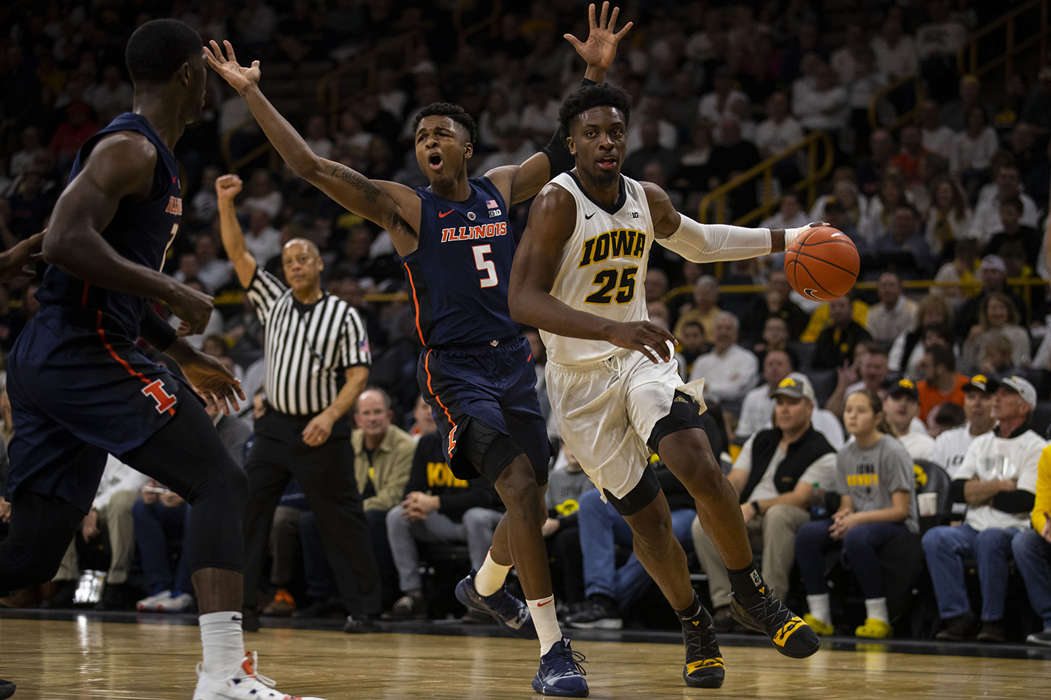 Iowa forward Tyler Cook drives to the hoop during the Iowa/Illinois men's basketball game at Carver-Hawkeye Arena on Sunday, January 20, 2019. The Hawkeyes defeated the Fighting Illini, 95-71.