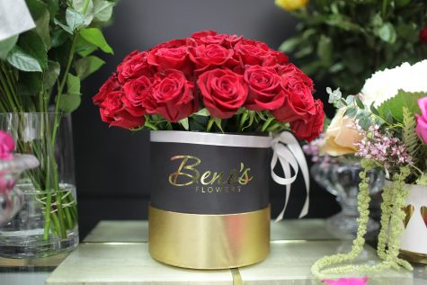 A bouquet of roses is seen at Beno