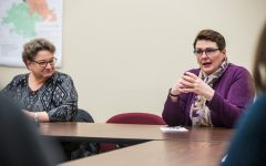Iowa State Representative Vicki Lensing speaks during a forum on education at the Iowa City Community School District Educational Services Center on Friday, February 22, 2019. (Shivansh Ahuja/The Daily Iowan)