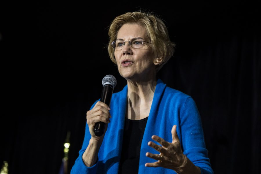 Sen.+Elizabeth+Warren%2C+D-Mass.%2C+speaks+during+a+campaign+rally+in+Cedar+Rapids+on+Sunday%2C+Feb.+10%2C+2019.