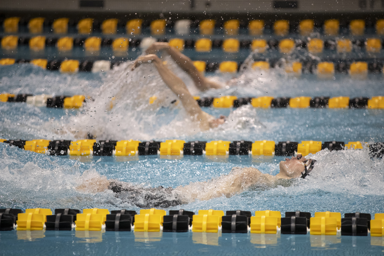 Ryan+Gridley+from+Northwestern+University+competes+in+the+Men%27s+400+Medley+Relay+during+the+second+day+of+the+2019+Big+Ten+Men%27s+Swimming+and+Diving+Championships+at+the+CRWC+on+Thursday%2C+February+28%2C+2019.+Northwestern+placed+eighth+with+a+time+of+3%3A09%3A98.+Gridley+finished+with+a+time+of+22.36.+