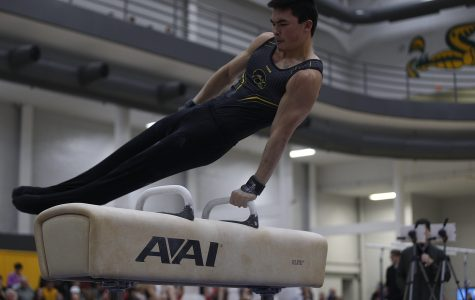 Iowa men's gymnastics completes return home with win over No. 7 Nebraska