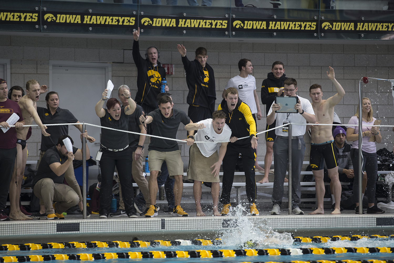 Iowa+swimmers+cheer+on+their+teammates+during+preliminary+rounds+of+the+men%27s+Big+10+Swimming+Championships+on+Saturday%2C+March+3%2C+2019.