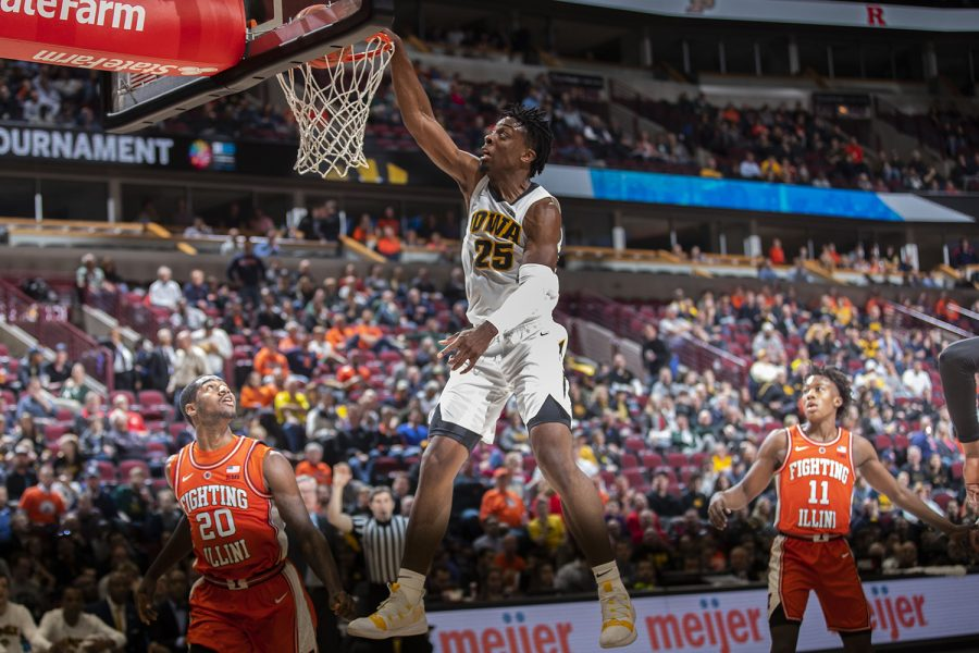 Iowa+forward+Tyler+Cook+dunks+during+the+Iowa%2FIllinois+Big+Ten+Tournament+mens+basketball+game+in+the+United+Center+in+Chicago+on+Thursday%2C+March+14%2C+2019.+The+Hawkeyes+defeated+the+Fighting+Illini%2C+83-62.+