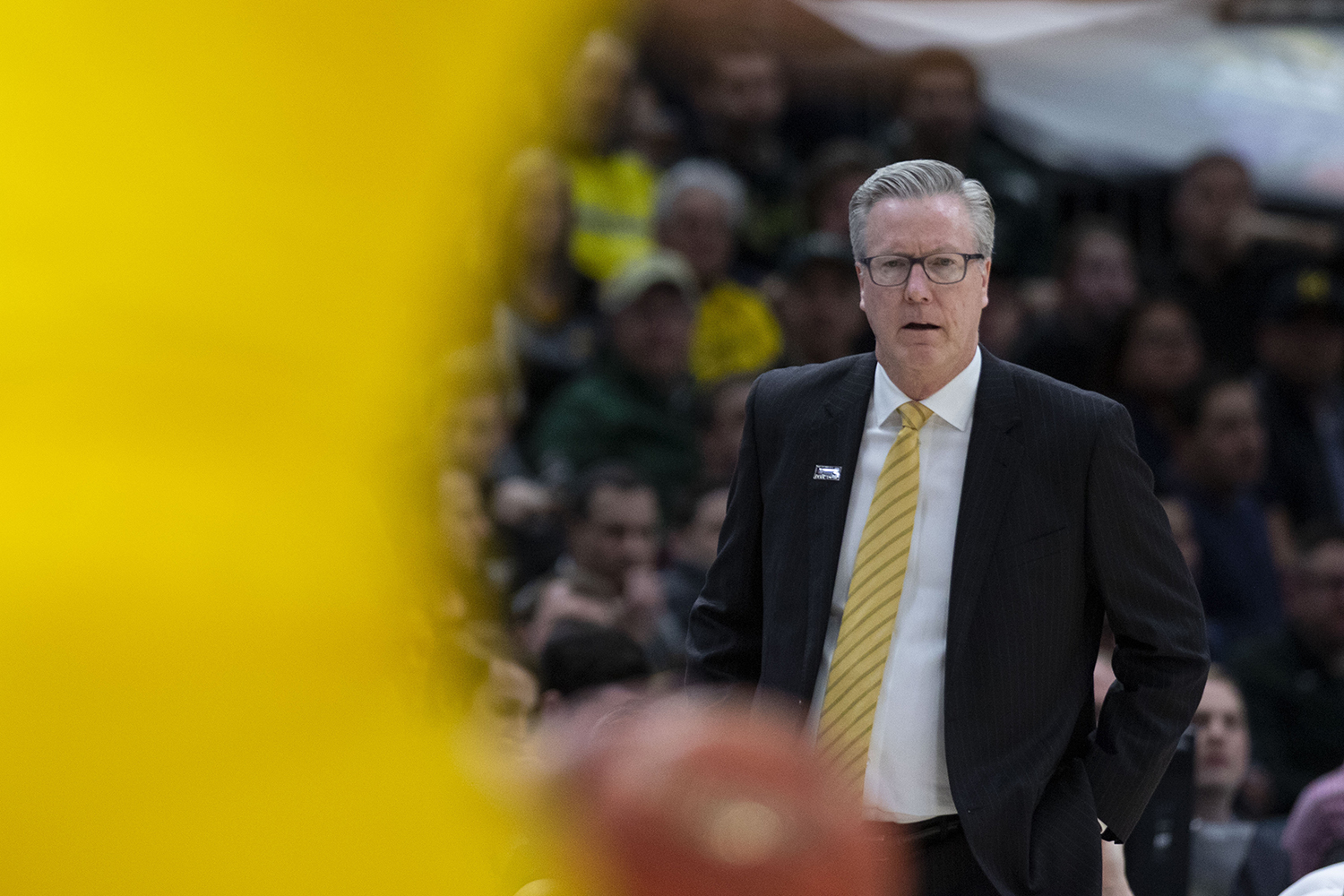 Iowa+head+coach+Fran+McCaffery+looks+on+during+the+Iowa%2FMichigan+Big+Ten+Tournament+men%27s+basketball+game+in+the+United+Center+in+Chicago+on+Friday%2C+March+15%2C+2019.+The+Wolverines+defeated+the+Hawkeyes%2C+74-53.+