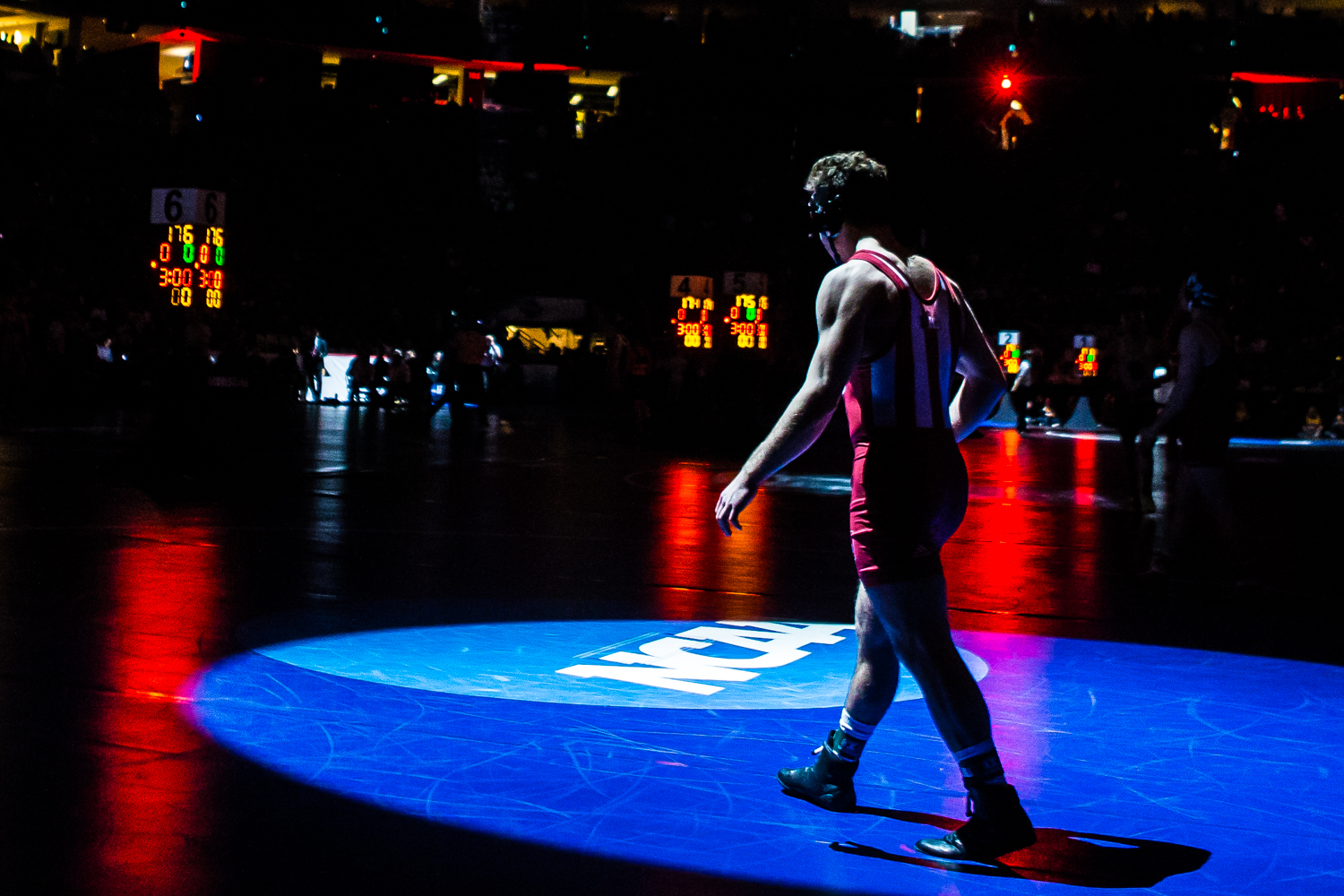 Wrestlers+are+introduced+before+the+second+session+of+the+2019+NCAA+D1+Wrestling+Championships+at+PPG+Paints+Arena+in+Pittsburgh%2C+PA+on+Thursday%2C+March+21%2C+2019.
