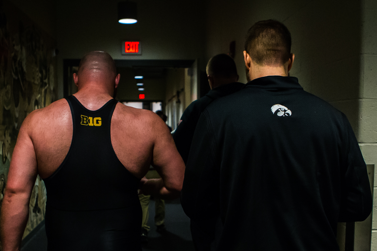 Iowa%E2%80%99s+285-pound+Sam+Stoll+walks+to+the+locker+room+during+the+second+session+of+the+2019+NCAA+D1+Wrestling+Championships+at+PPG+Paints+Arena+in+Pittsburgh%2C+PA+on+Thursday%2C+March+21%2C+2019.+Stoll+won+by+decision%2C+1-0.