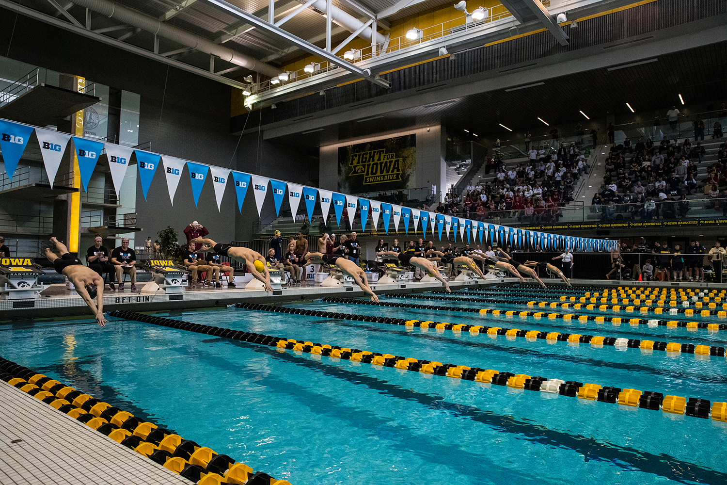 Swimmers+jump+from+the+block+in+the+500+yard+freestyle+during+the+second+day+of+the+2019+Big+Ten+Men%27s+Swimming+and+Diving+Championships+at+the+CRWC+on+Thursday%2C+February+28%2C+2019.+