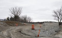 Construction areas are pictured near Mehaffey Bridge on Thursday, March 14, 2019. The bridge and surrounding area are apart of the trail renovation project.