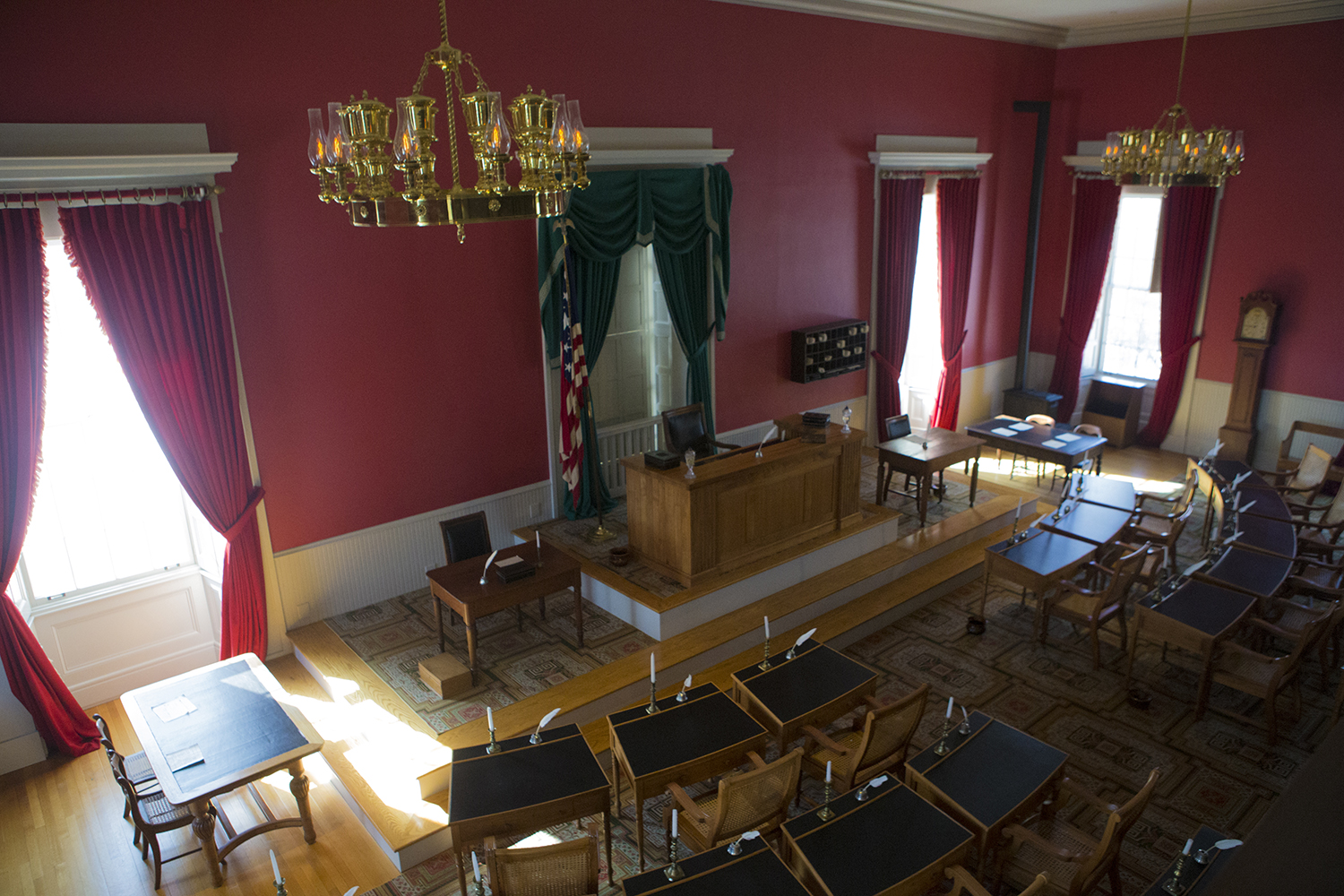 The house chamber at the Old Capitol Museum as seen on March 5.