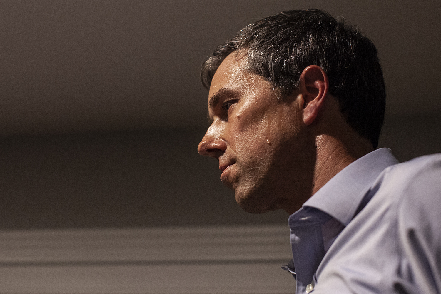 Democratic presidential candidate Beto O'Rourke speaks at the home of John Murphy in Dubuque, Iowa on Sunday, March 16, 2019.