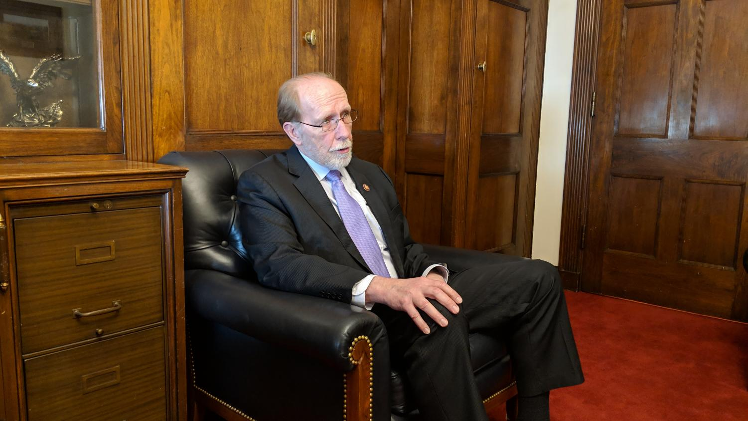 Rep. Dave Loebsack, D-Iowa City, speaks with The Daily Iowan inside the Longworth House Office Building in Washington on Tuesday, March 26, 2019.