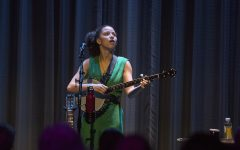 Kaia Kater performs in Hancher Auditorium on March 30, 2019. Kater is a singer-songwriter who has been nominated for a Juno award for contemporary roots album of the year.