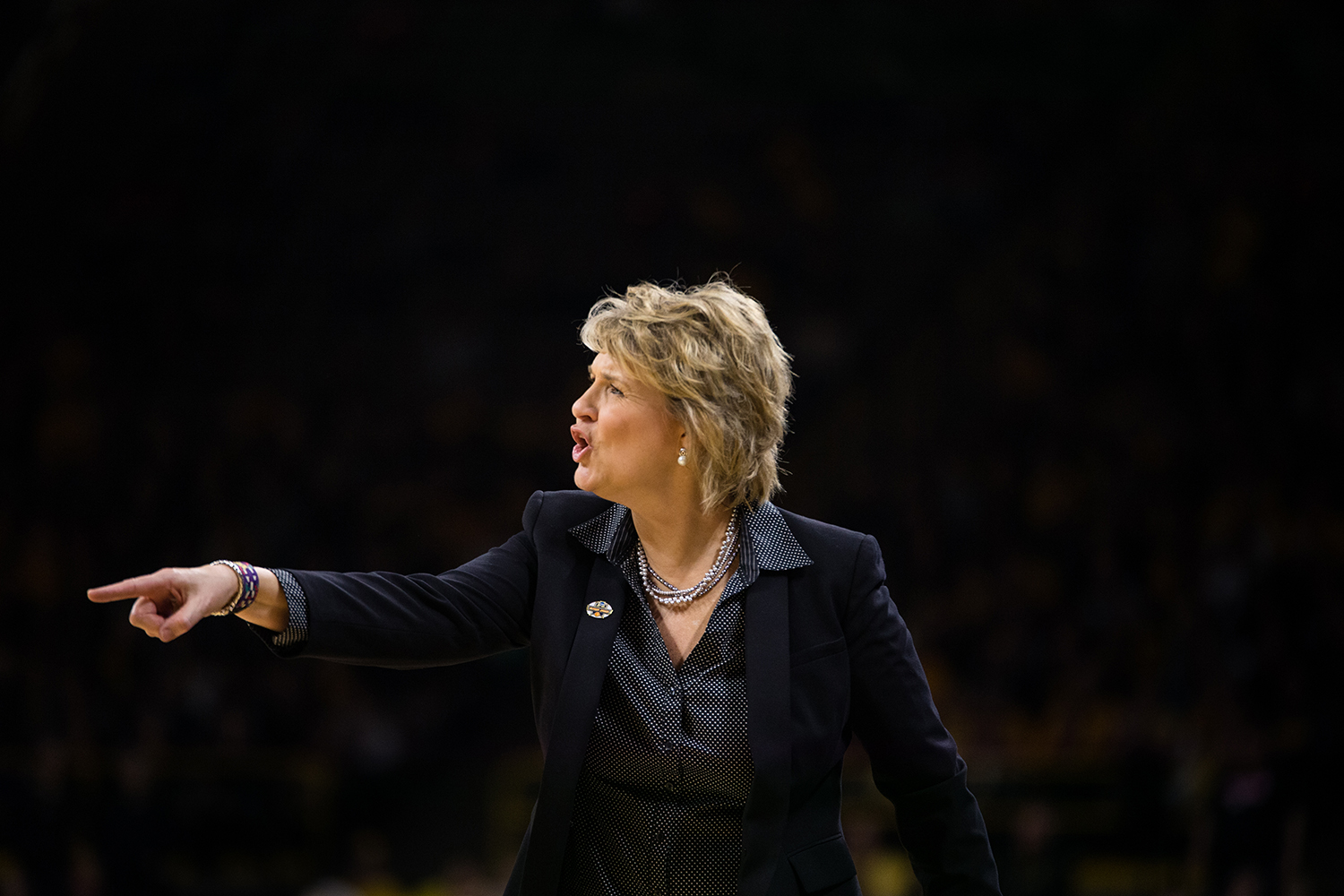 Iowa+head+coach+Lisa+Blunder+yells+at+her+team+during+the+Iowa%2FMissouri+NCAA+Tournament+second+round+women%E2%80%99s+basketball+game+in+Carver-Hawkeye+Arena+in+Iowa+City%2C+Iowa+on+Sunday%2C+March+24%2C+2019.+The+Hawkeyes+defeated+the+Tigers+68-52.