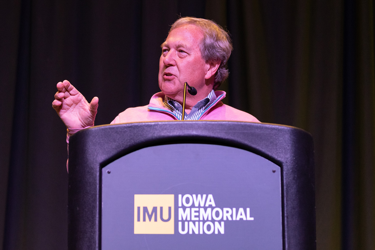 UI President Bruce Harreld speaks at the Chief Diversity Office's 2019 Update on Diversity, Equity, and Inclusion in the IMU on Wednesday, January 16, 2019. (David Harmantas/The Daily Iowan)