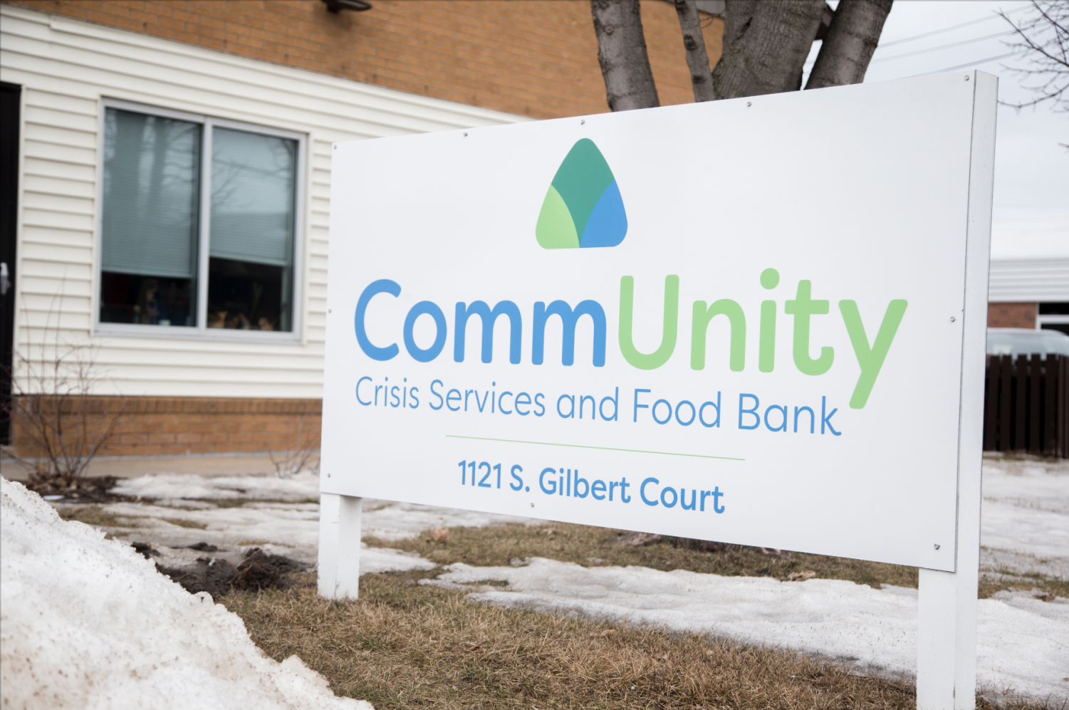 The CommUnity Crisis Services and Food Bank is seen on March 12, 2019. Formerly known as the Crisis Center of Johnson County, the food bank rebranded in order to emphasize the importance of community.
