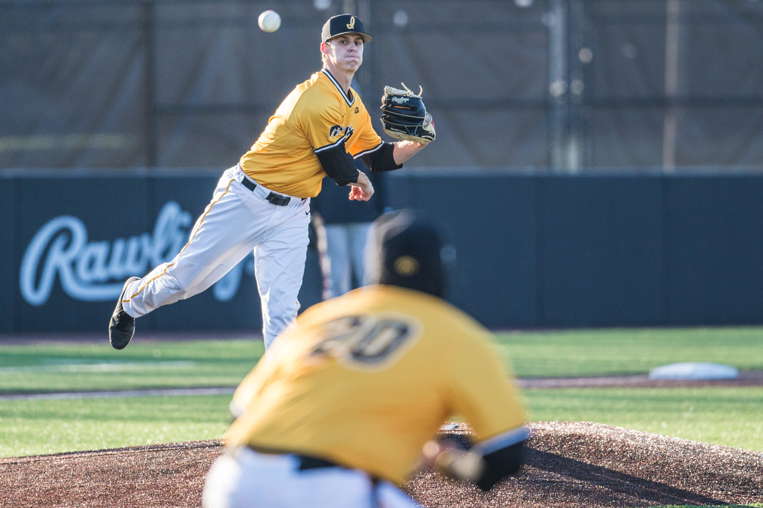 Iowa+pitcher+Grant+Judkins+makes+a+pickoff+throw+to+first+during+the+second+game+of+a+baseball+doubleheader+between+Iowa+and+Cal-State+Northridge+at+Duane+Banks+Field+on+Sunday%2C+March+17%2C+2019.+The+Hawkeyes+took+the+series+by+defeating+the+Matadors%2C+3-1.