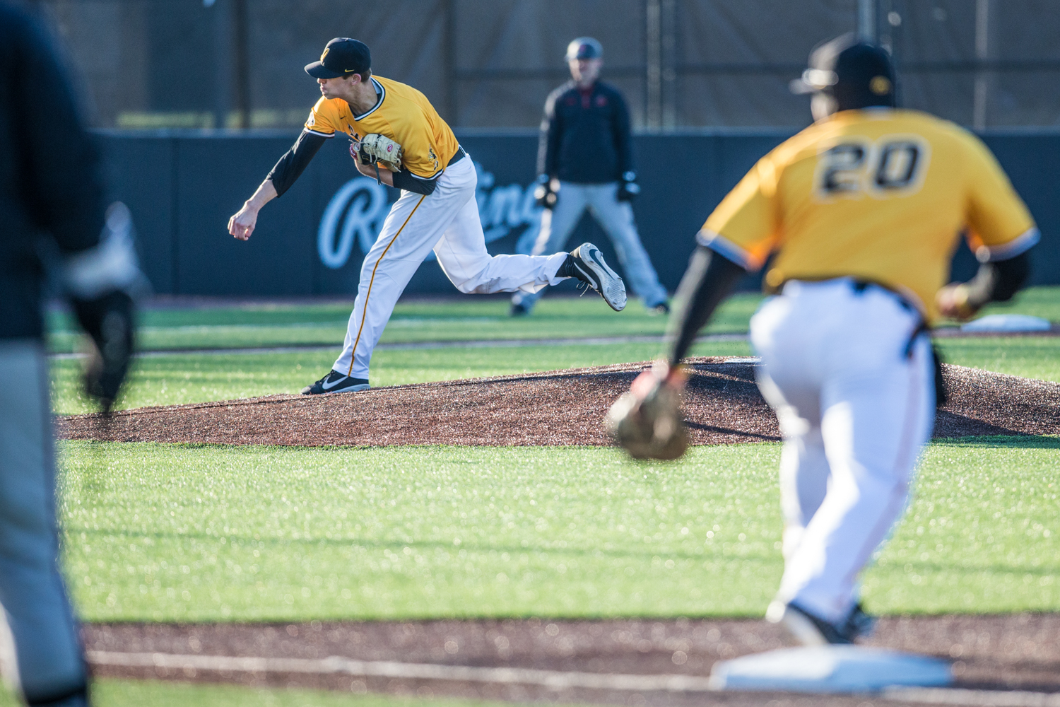 Iowa+pitcher+Grant+Judkins+throws+a+pitch+during+the+second+game+of+a+baseball+doubleheader+between+Iowa+and+Cal-State+Northridge+at+Duane+Banks+Field+on+Sunday%2C+March+17%2C+2019.+The+Hawkeyes+took+the+series+by+defeating+the+Matadors%2C+3-1.