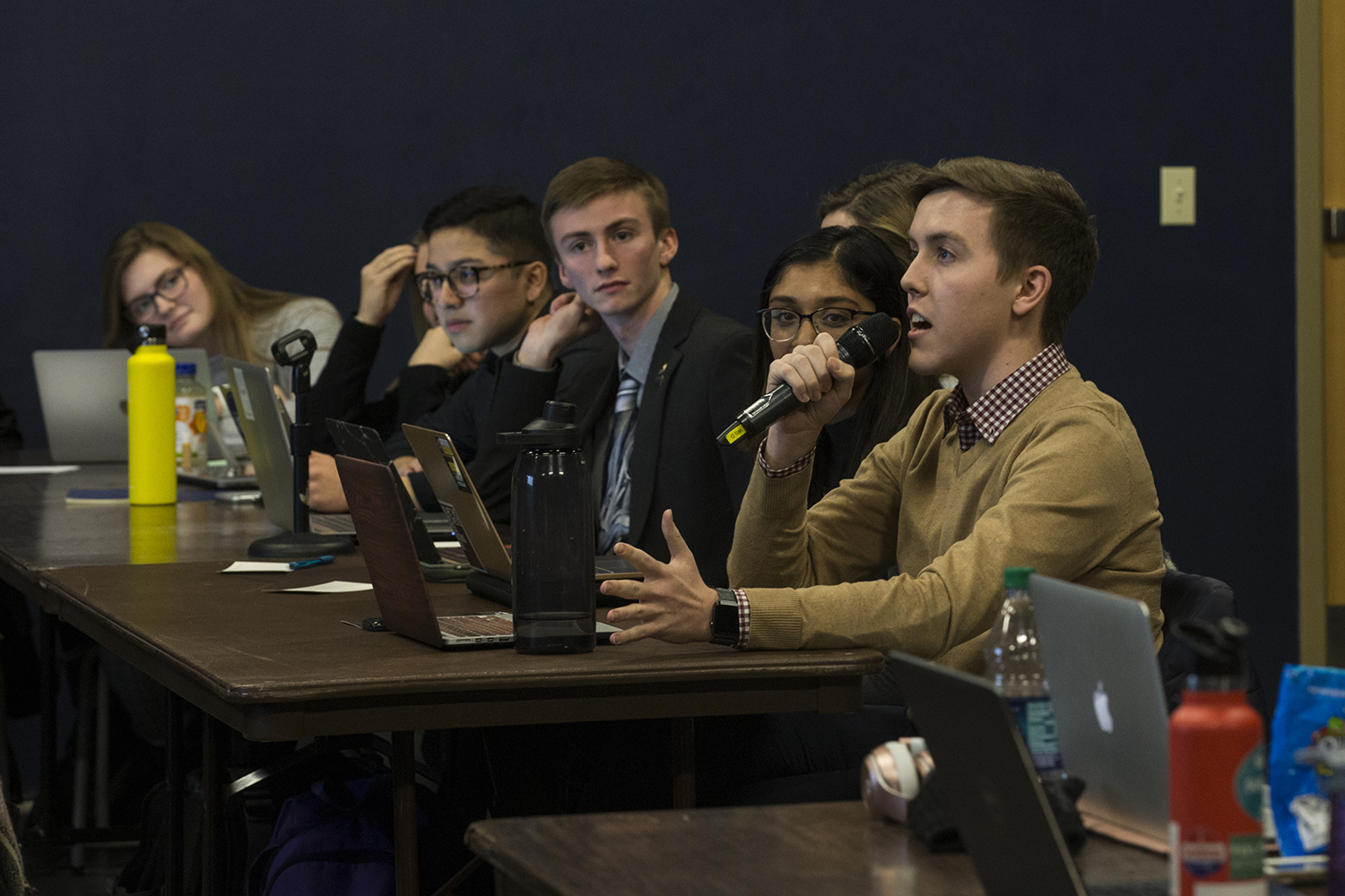 UISG members debate legislature at a meeting in the Iowa Memorial Union on Tuesday February 12 2019.