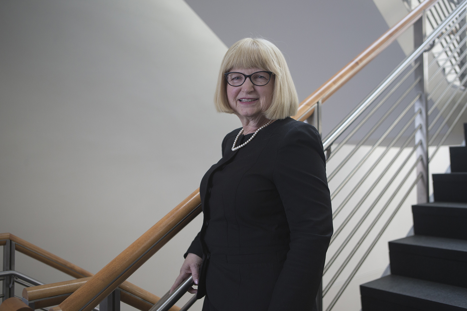 Professor Linda Snetselaar poses for a portrait at the University of Iowa College of Public Health building on Friday, March 1, 2019.