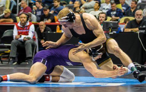 Iowa wrestling takes on CyHawk action in Ames