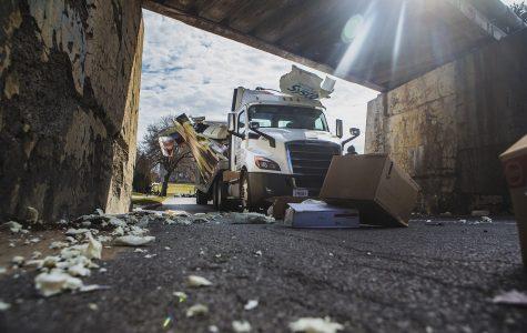 Semi truck hits Iowa Avenue railroad bridge