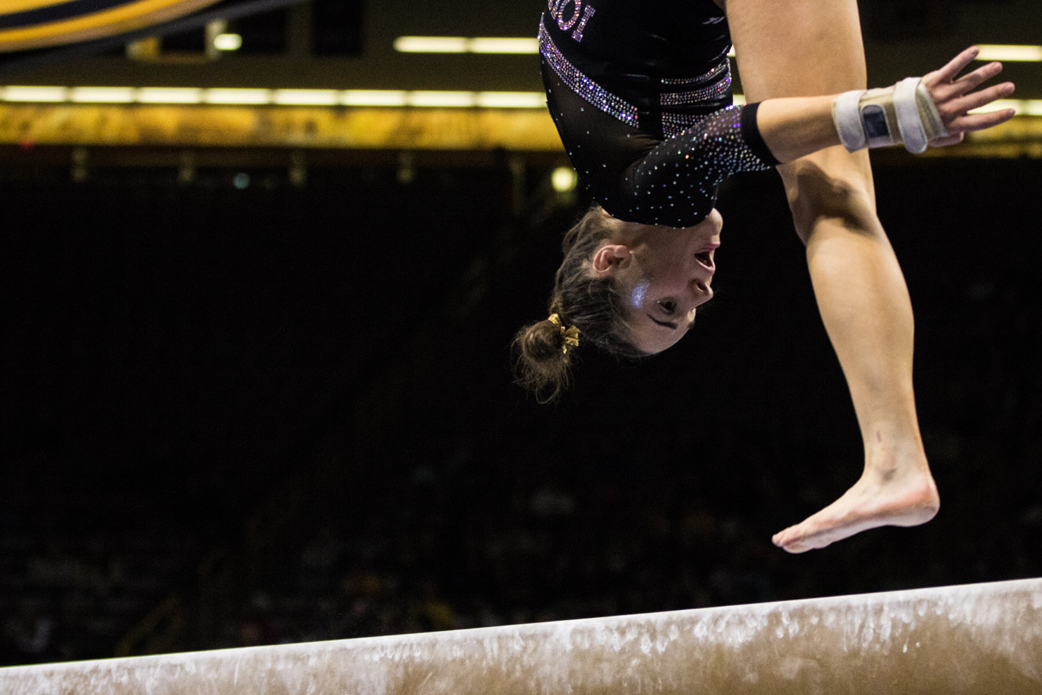 Iowa%27s+Allie+Gilchrist+competes+on+beam+during+a+women%27s+gymnastics+meet+between+Iowa+and+Iowa+State+at+Carver-Hawkeye+Arena+on+Friday%2C+March+1%2C+2019.+Gilchrist+scored+9.075+in+the+event.+The+Hawkeyes%2C+celebrating+senior+night%2C+fell+to+the+Cyclones%2C+196.275-196.250.