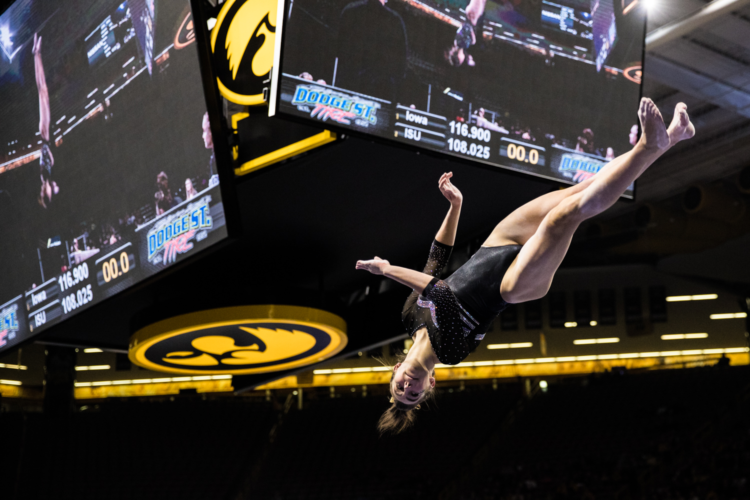 Iowa%27s+Bridget+Killian+competes+on+beam+during+a+women%27s+gymnastics+meet+between+Iowa+and+Iowa+State+at+Carver-Hawkeye+Arena+on+Friday%2C+March+1%2C+2019.+Killian+scored+9.775+in+the+event.+The+Hawkeyes%2C+celebrating+senior+night%2C+fell+to+the+Cyclones%2C+196.275-196.250.