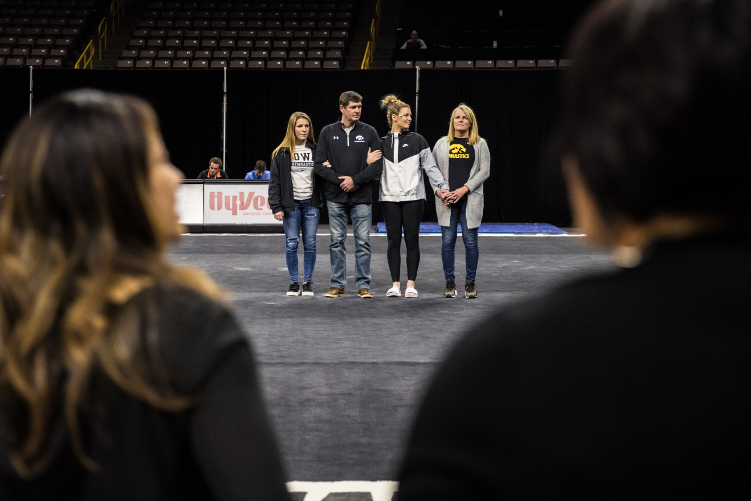 Iowa%27s+Sydney+Hogan+is+honored+with+her+family+after+a+women%27s+gymnastics+meet+between+Iowa+and+Iowa+State+at+Carver-Hawkeye+Arena+on+Friday%2C+March+1%2C+2019.+The+Hawkeyes%2C+celebrating+senior+night%2C+fell+to+the+Cyclones%2C+196.275-196.250.