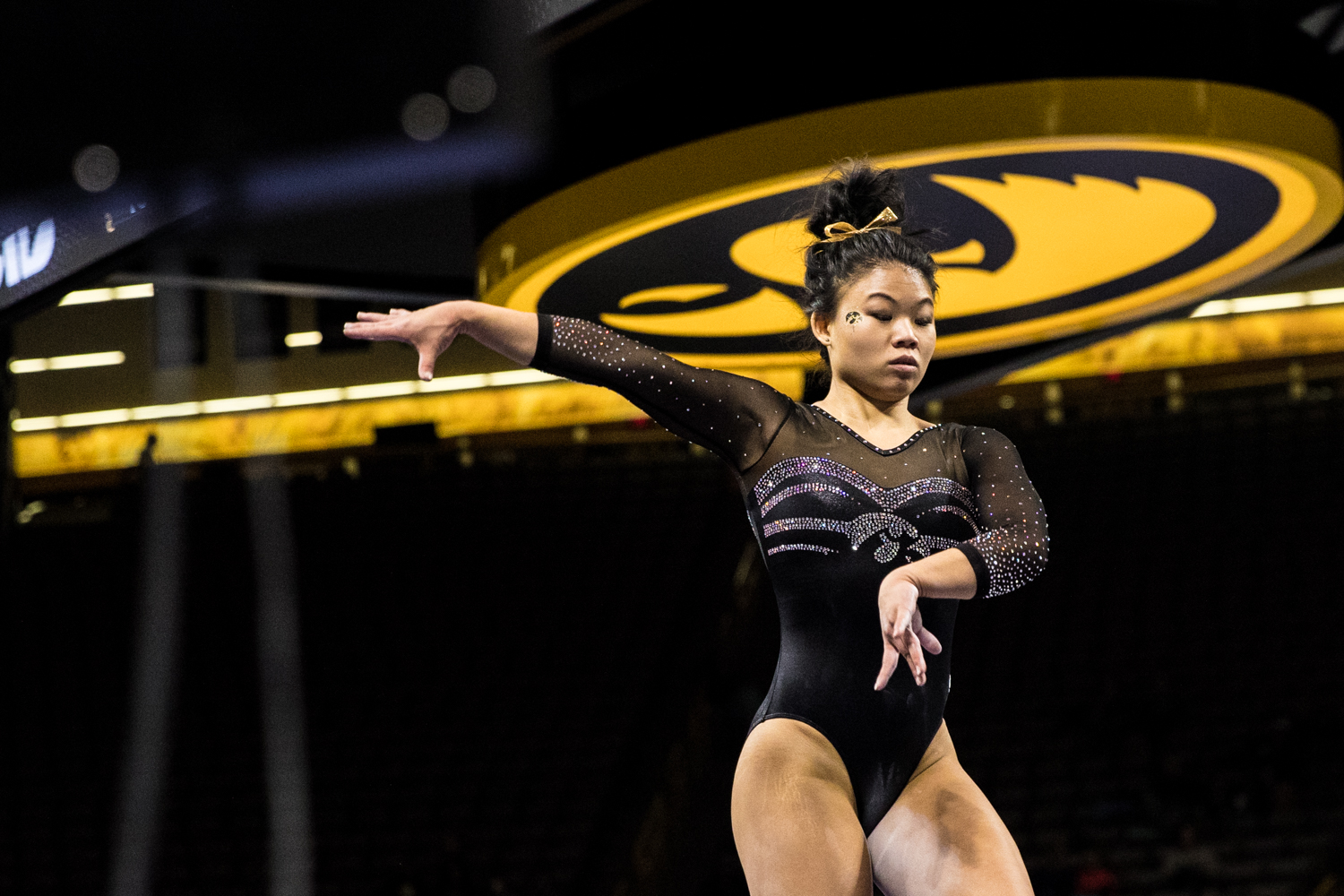 Iowa%27s+Misty-Jade+Carlson+competes+on+beam+during+a+women%27s+gymnastics+meet+between+Iowa+and+Iowa+State+at+Carver-Hawkeye+Arena+on+Friday%2C+March+1%2C+2019.+Carlson+scored+9.850+in+the+event.+The+Hawkeyes%2C+celebrating+senior+night%2C+fell+to+the+Cyclones%2C+196.275-196.250.
