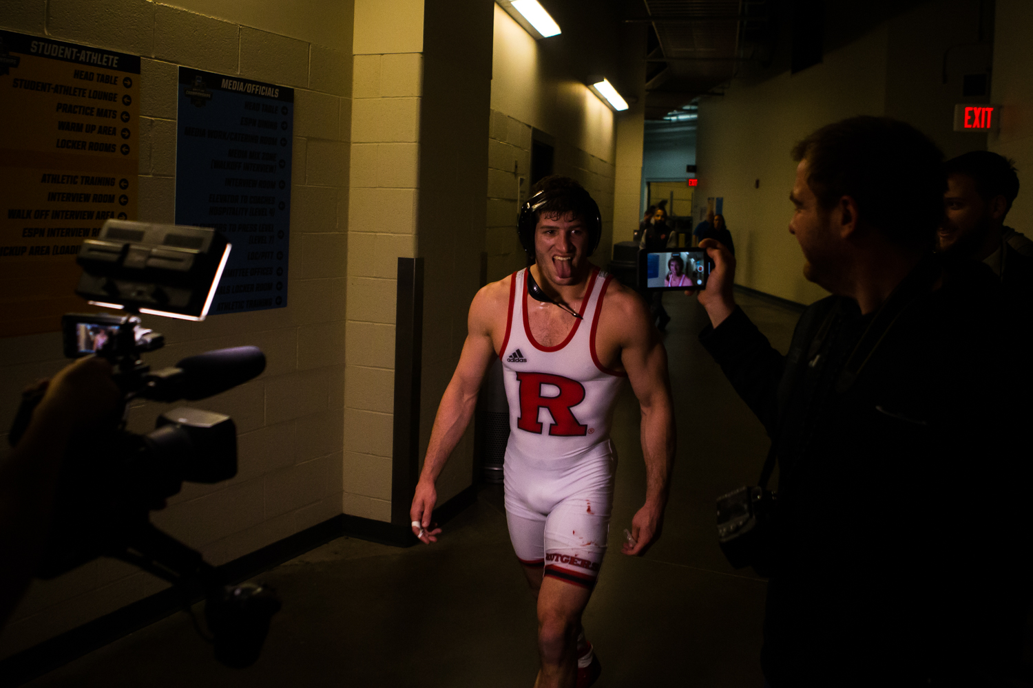 Rutgers%27+Anthony+Ashnault+celebrates+his+first-place+finish+at+149-pounds+during+the+final+session+of+the+2019+NCAA+D1+Wrestling+Championships+at+PPG+Paints+Arena+in+Pittsburgh%2C+PA+on+Saturday%2C+March+23%2C+2019.