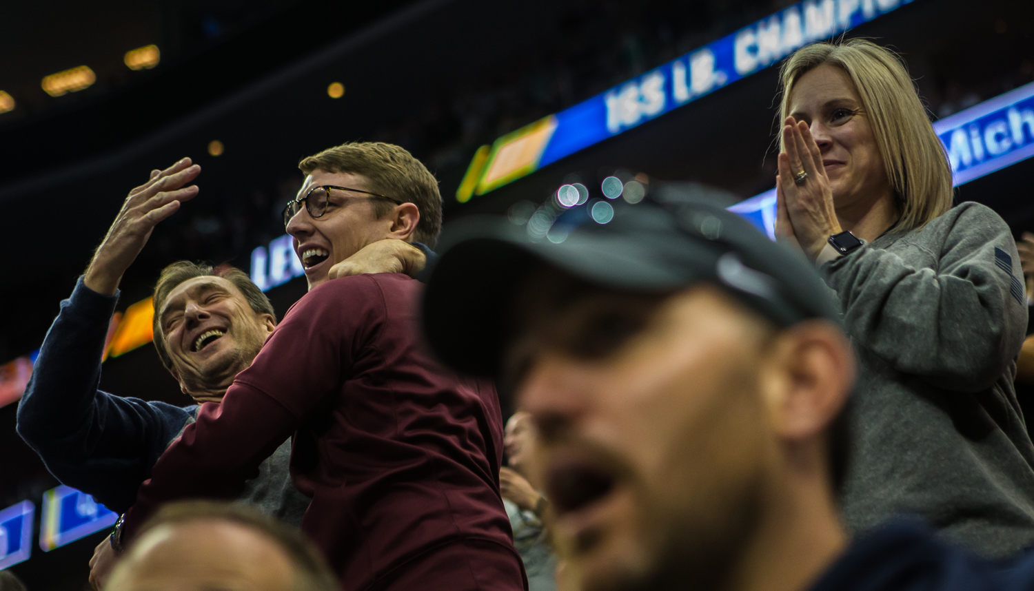 Virginia+Tech+fans+cheer+on+165-pound+Mekhi+Lewis+during+the+final+session+of+the+2019+NCAA+D1+Wrestling+Championships+at+PPG+Paints+Arena+in+Pittsburgh%2C+PA+on+Saturday%2C+March+23%2C+2019.