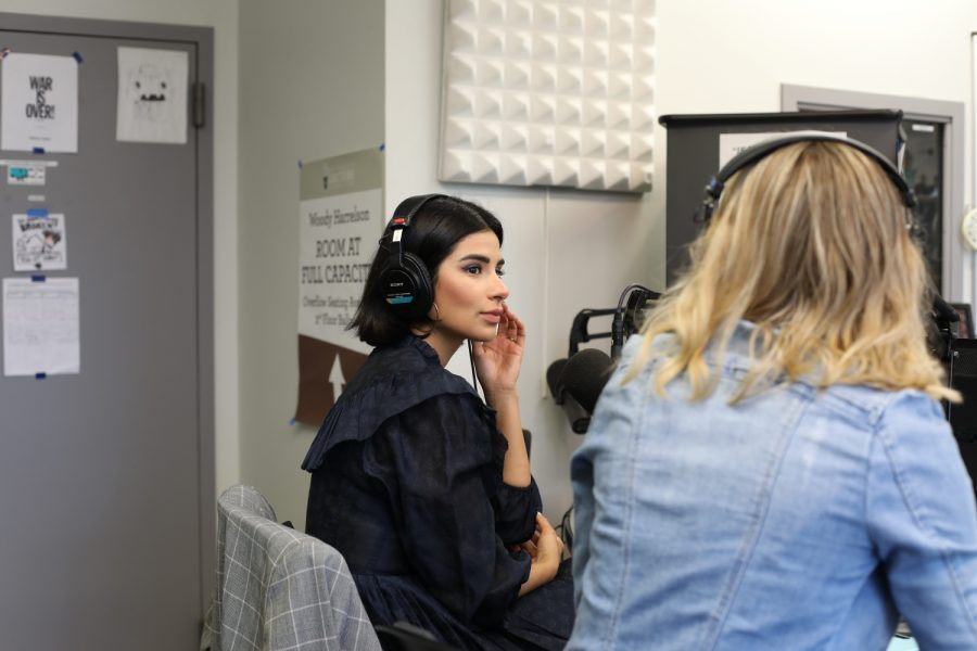 Diane Guerrero during her interview with KRUI to discuss her book and her lecture at the University on Tuesday, April 30.