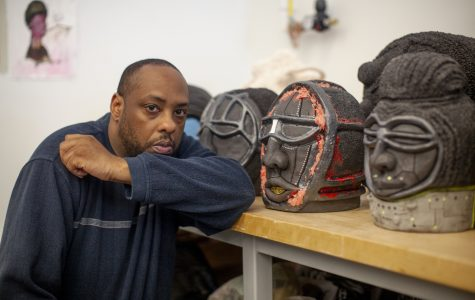 Benin heads, pineapples, Daleks: the art of Donté Hayes
